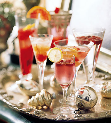 Holiday cocktail tray