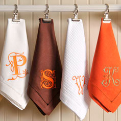 monogrammed napkins - all things for all parties