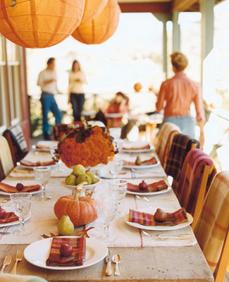 Tablescape_thanksgiving outside paper lanterns orange pumpkins_James Carriere Photography