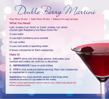 Double-Berry Martini Recipe