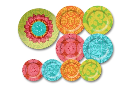 French_Bull_African_pattern_melamine_tableware